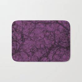 Plum Purple Hunting Camo Pattern Bath Mat