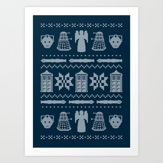 Who's Sweater Art Print