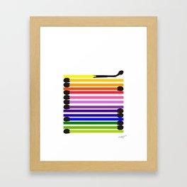 Matchsticks Framed Art Print