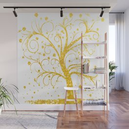 Gold Tree Wall Mural