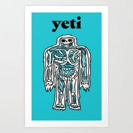 Yeti Anatomy Art Print