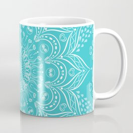 Teal Boho Mandala Coffee Mug