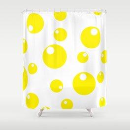 Soda Bubbles - Yellow Shower Curtain