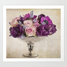 Paint with flowers Art Print