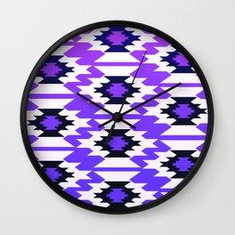 Ultraviolet geometry Wall Clock