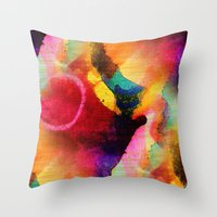 circles Throw Pillows featuring Circles by mimulux