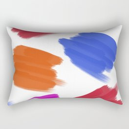 Colored Stains Pattern Rectangular Pillow