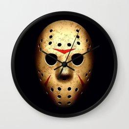 Friday 13th Jason Mask Wall Clock