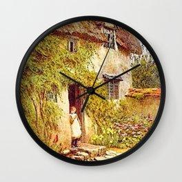 Girl in Doorway Wall Clock