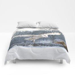 Barn owl in flight Comforters