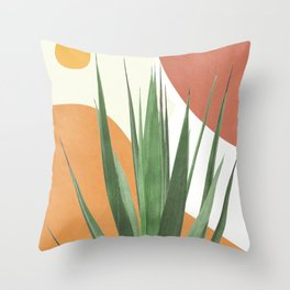 Abstract Agave Plant Throw Pillow