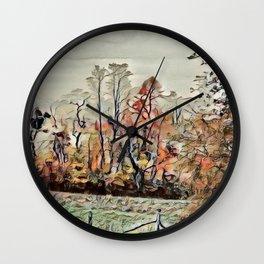 Autumn Field - SW Virginia  Wall Clock