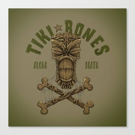 Tiki Bones Canvas Print