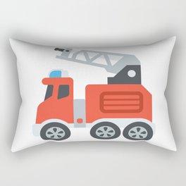 Firetruck Emoji Rectangular Pillow