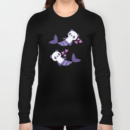 Cute purple merpandas Long Sleeve T-shirt