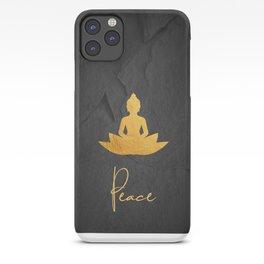 Gold Buddha 3 iPhone Case