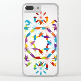 A large Colorful Christmas snowflake pattern- holiday season gifts- Happy new year gifts Clear iPhone Case