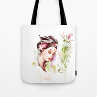 japanese Tote Bags featuring Japanese by tatiana-teni