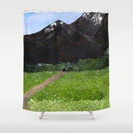 Mountain Pass Shower Curtain