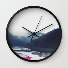 Low Tide in the Valley Wall Clock