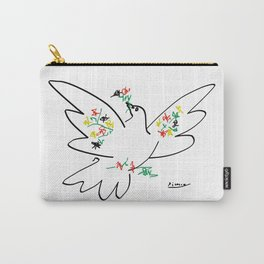 Picasso - Dove of Peace and Flowers Carry-All Pouch
