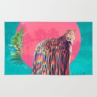 jaguar Area & Throw Rugs featuring Jaguar by Ali GULEC