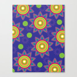 Moroccan Flower Purple Canvas Print