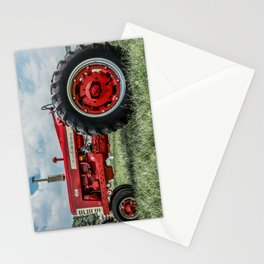 Vintage IH Farmall 450 Side View Red Tractor Stationery Cards