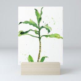 Green Dracena Watercolor Scetch Mini Art Print