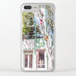 Miami Teal Clear iPhone Case