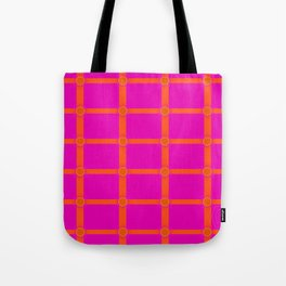 Alium 3 - Delayed Color Contrast Optical Illusion Grid Tote Bag