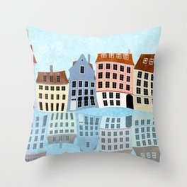 Nyhavn Series 3 Throw Pillow
