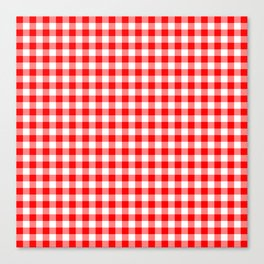 Australian Flag Red and White Jackaroo Gingham Check Canvas Print