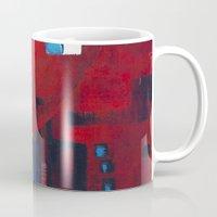 ballon Mugs featuring Red ballon by Nathalie Gribinski