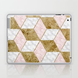 Dazzling marble geo - golden Laptop & iPad Skin