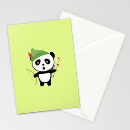 Panda valentine Archer T-Shirt for all Ages Dozgw Stationery Cards
