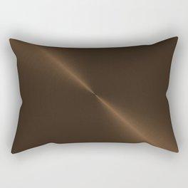 Dark Brown Bronze Metal Rectangular Pillow