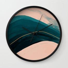 California Watercolor Winter Wall Clock