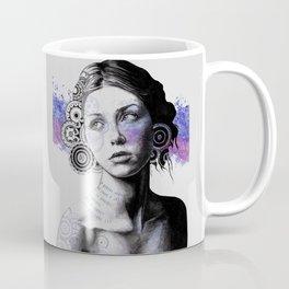 Ayil (vintage lady portrait, mandala doodles sketch) Coffee Mug
