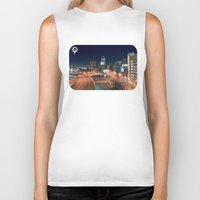 baltimore Biker Tanks featuring Baltimore by Andrew Mangum