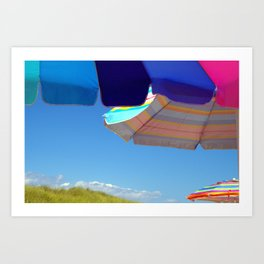 Beach Umbrellas - Block Island Art Print