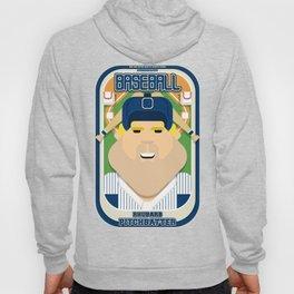 Baseball Blue Pinstripes - Rhubarb Pitchbatter - Sven version Hoody