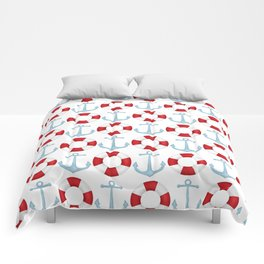 Anchors And Buoys Pattern Comforters