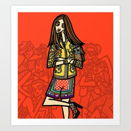 the power of 5. one Art Print