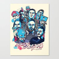 gaming Canvas Prints featuring Inside Gaming by MikeRush