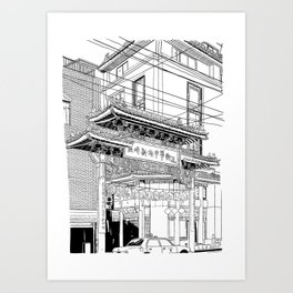 Nagasaki - China Town Art Print