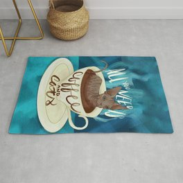 All you need is coffee and cats - sphynx cat art Rug