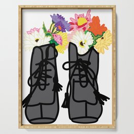 Floral Boots Serving Tray