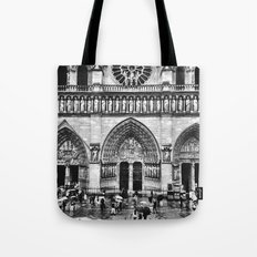 Through the rain:b&w Tote Bag