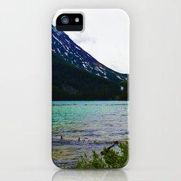 Geraldine Peak as seen from Geraldine Lake in Jasper National Park, Canada iPhone Case